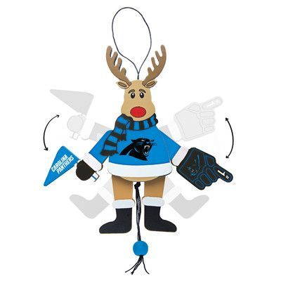 Topperscot NFL Wooden Cheering Reindeer Ornament NFL Team: