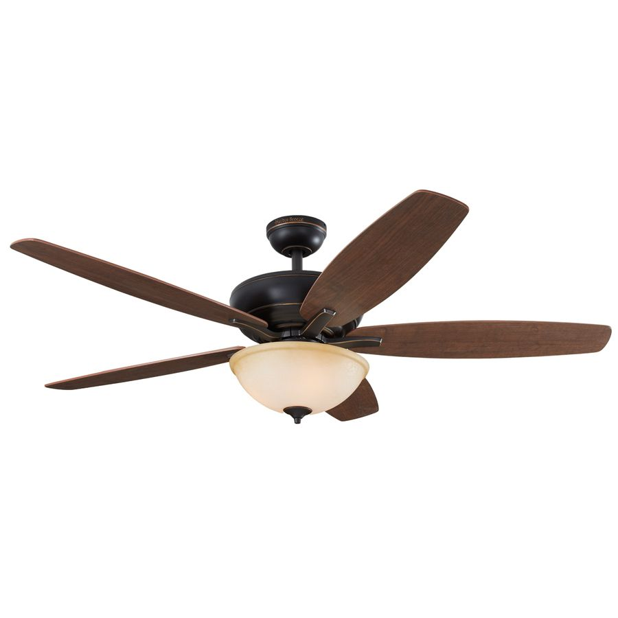 Harbor Breeze Aberly Cove 60 In Bronze Downrod Or Close Mount Indoor Ceiling Fan With Light Kit And Remote Ceiling Fan With Light Ceiling Fan Fan Light