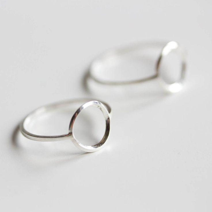 Photo of Circle ring – sterling silver, minimalist, full circle ring, karma ring, midi ring