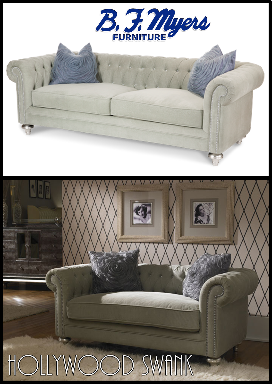 Etonnant #HollywoodSwank Living Room Love Seat Platinum AVAILABLE AT B.F. MYERS  FURNITURE In Goodlettsville,