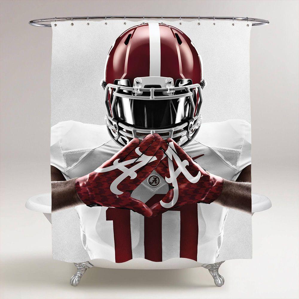 Alabama Crimson Tide NCAA College Football Full Gear Gloves Shower Curtain Price 3699 Specialdiscount