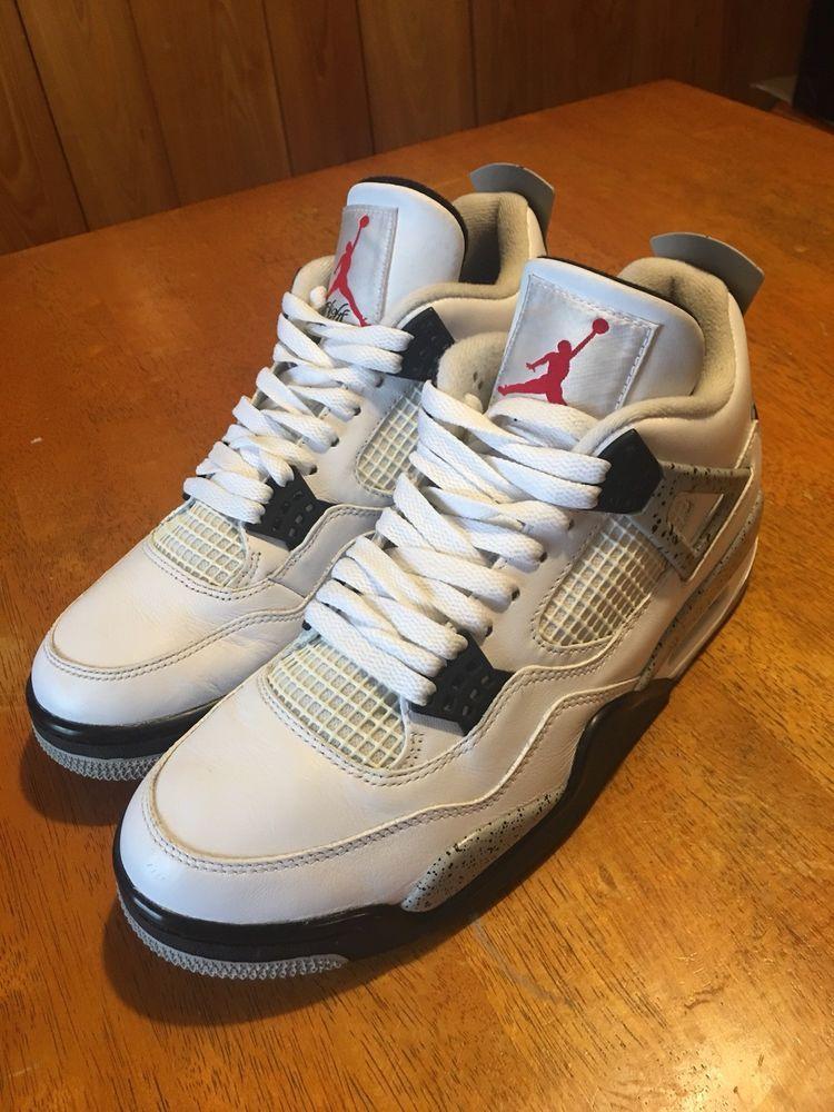 wholesale dealer 23609 d372f Nike Air Jordan 4 IV Retro White Cement Size 9.5 100% Authentic 2016  Release