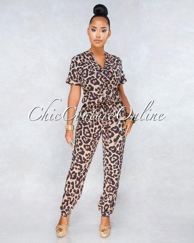 390dc9f2bd7 Valentia Leopard Print Jumpsuit in 2019