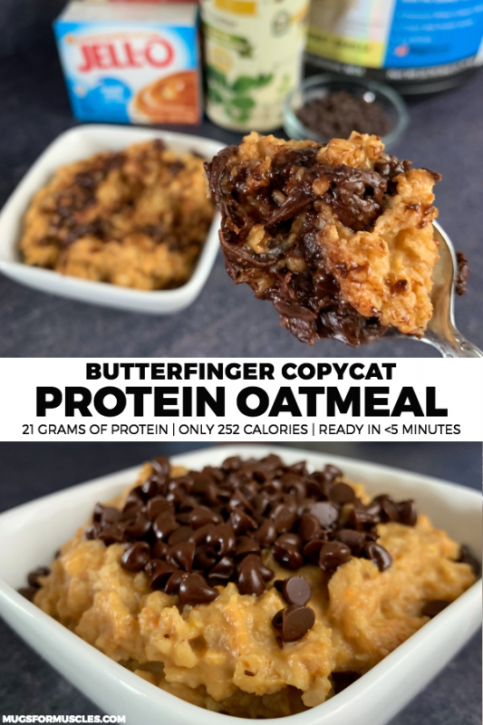 #butterfinger #favorite #calories #protein #oatmeal #flavors #stuffed #protein #grams #only #with #b...