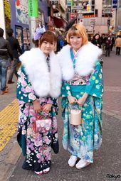 Coming of Age Day (Seijin no Hi) in Tokyo 2012. 20-year-old girls dress up in ki...,  #20yearold #Age #Coming #ComingofAgeceremony #Day #Dress #Girls #Seijin #Tokyo