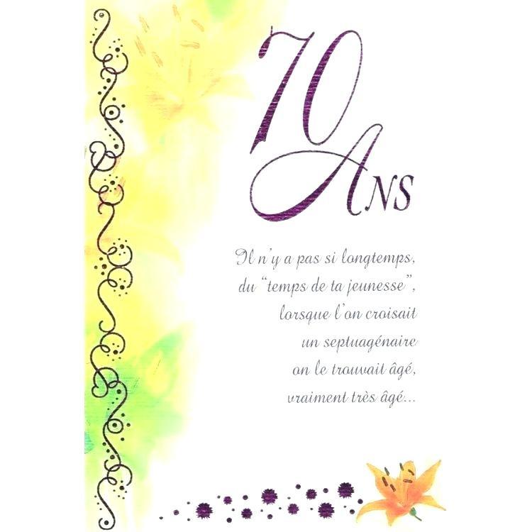 Texte Pour Carte D'anniversaire Homme Awesome Nouveau Carte Invitation Anniversaire 70 Ans ...