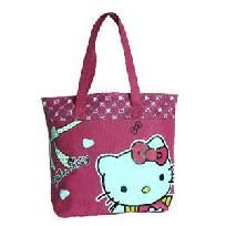 Kitty Decorated Waterproof Shopping Bag with Dual Compartment and Zipper Closure  FREE SHIPPING  Item in stock and ready to ship  check out more at Pink Ivy Boutiques $8.50