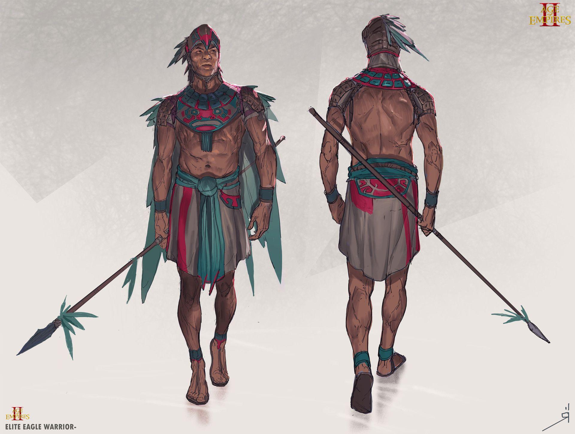 Age Of Empires 3 Africa Maps%0A ArtStation  Age of Empires    Elite Eagle warrior  Oscar R  mer