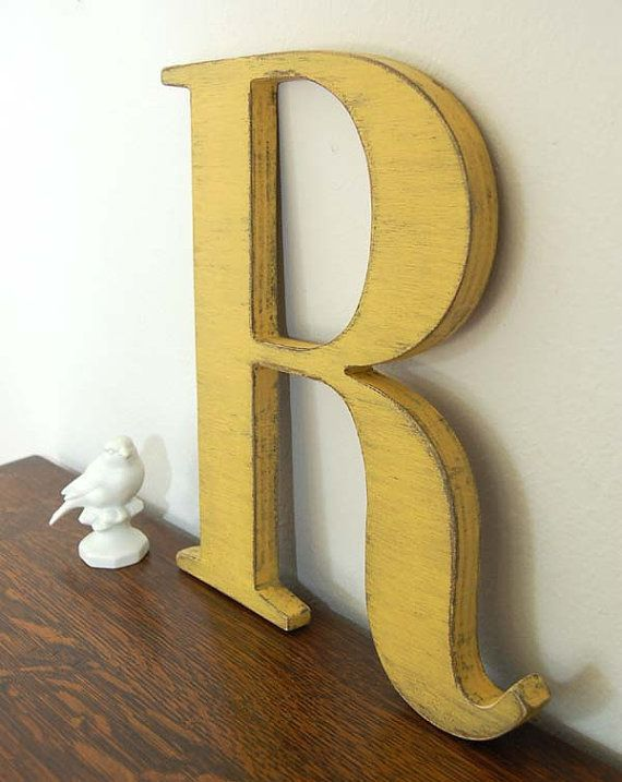 wall letter R wooden letters cottage decor signage by OldNewAgain ...