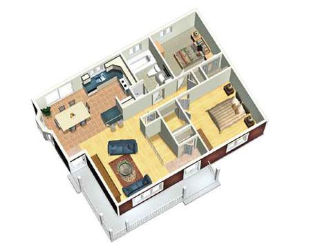 Plan 80378pm Cozy Two Bedroom House Plan Two Bedroom House House Plans Bedroom House Plans