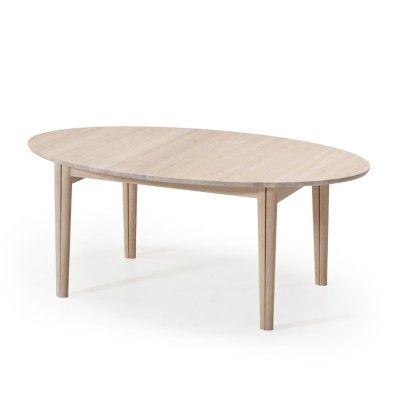 Oak Extending Dining Table Skovby Ellipse 78 Dining Table Oak