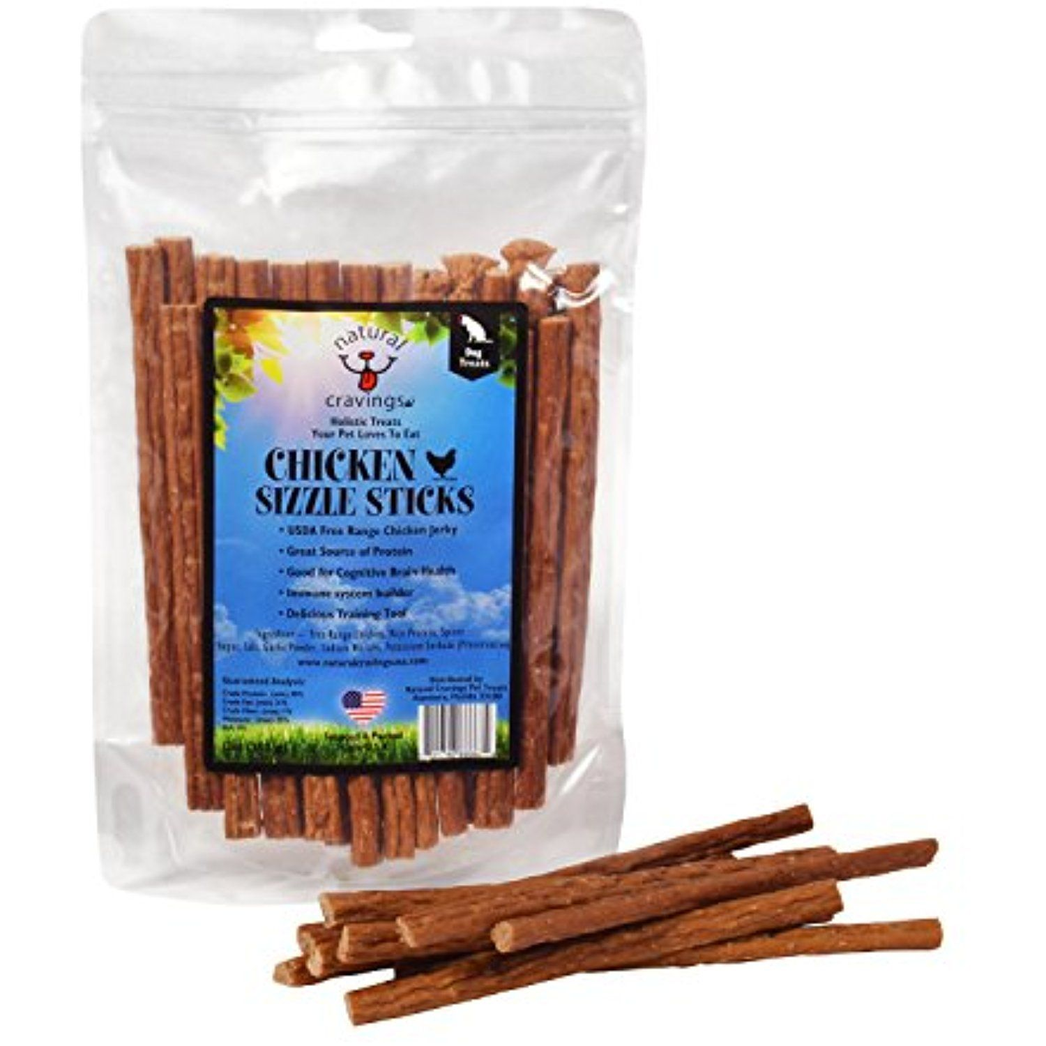 Chicken Sizzle Sticks Chicken Jerky Dog Treats Product of