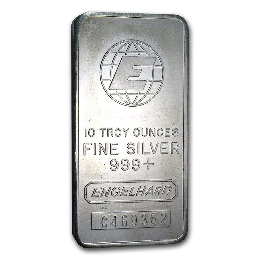 10 Oz Silver Bar Engelhard Tall E Logo Silver Bars Silver 10 Things