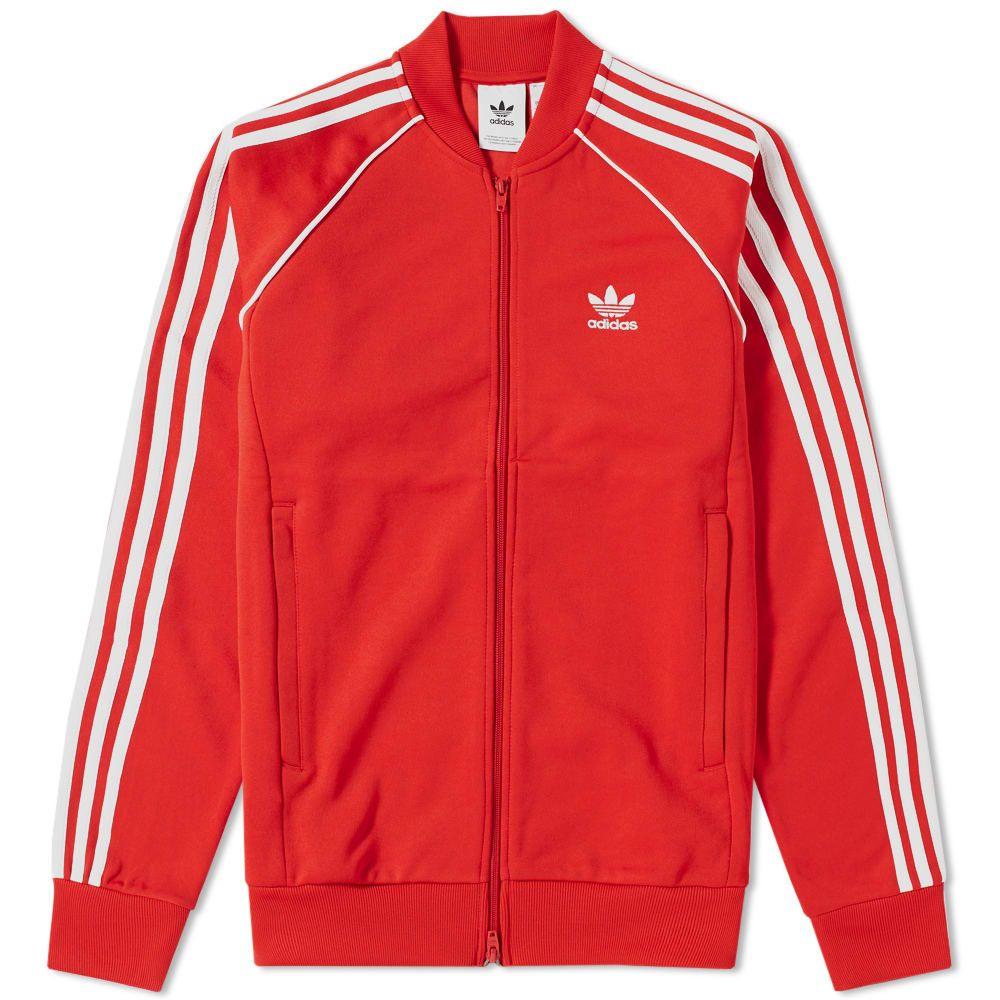 Adidas Superstar Windbreaker In Red