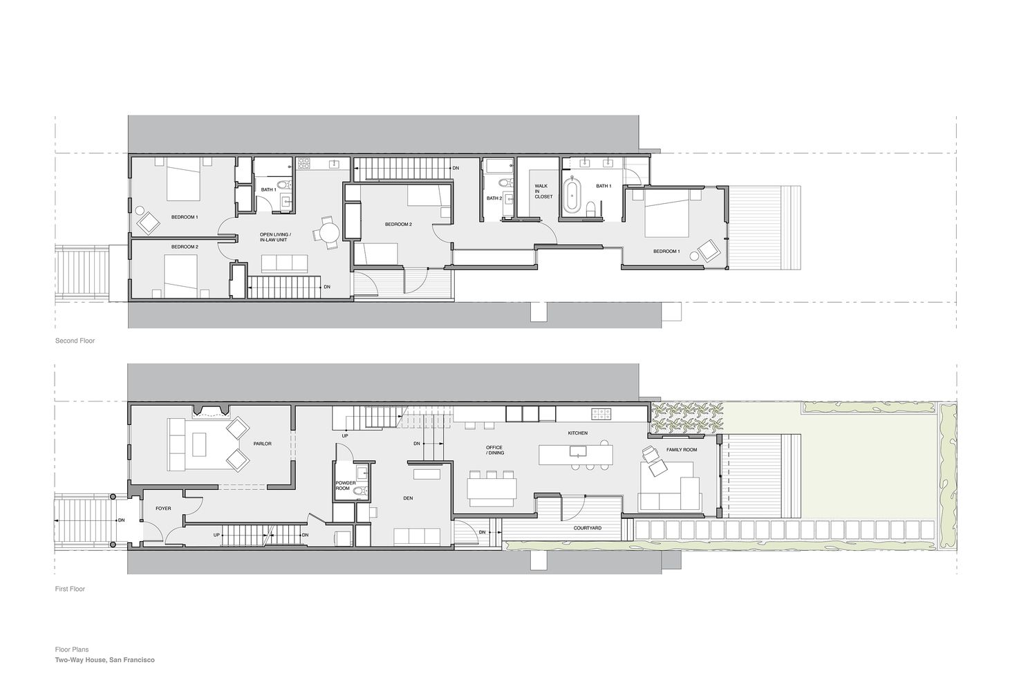 Gallery Of Two Way House Studio Sarah Willmer 18 Floor Plans Home Design Plans Layout Architecture