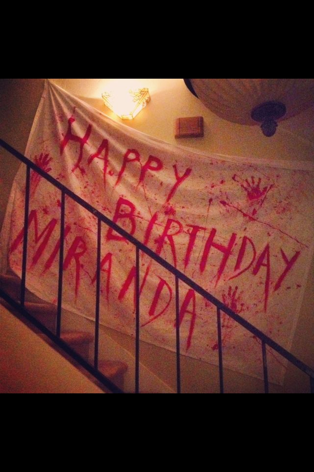 Zombie apocalypse birthday banner Party Time Pinterest