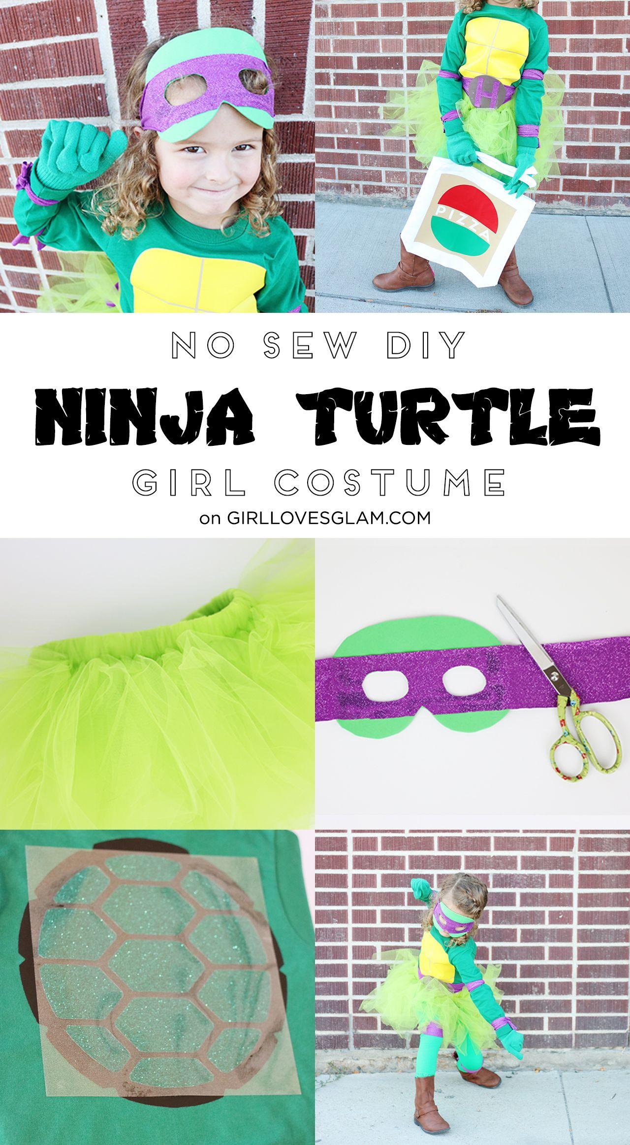 Diy no sew ninja turtle costume for girls holidays best diy no sew girl ninja turtle costume for halloween solutioingenieria Image collections