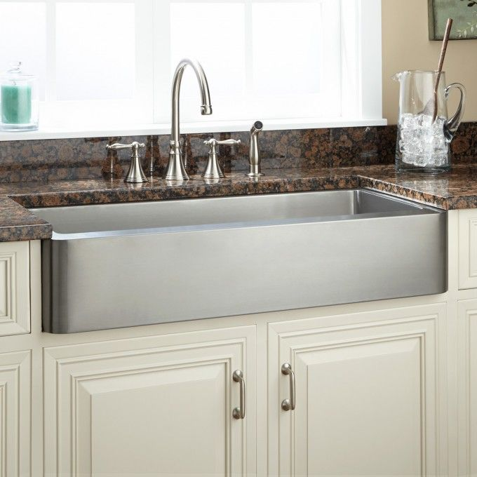 19++ Brushed stainless steel farmhouse sink best