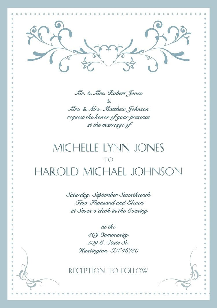 Formal Wedding Invitations Thermography