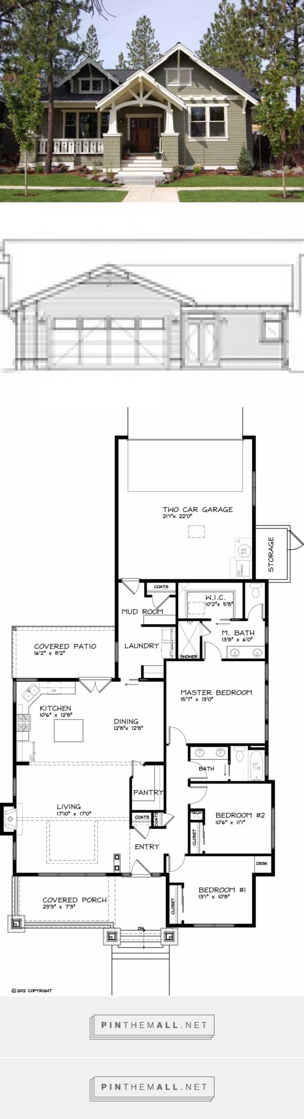 Best Craftsman Style House Plan 3 Beds 2 Baths 1749 Sq Ft 400 x 300