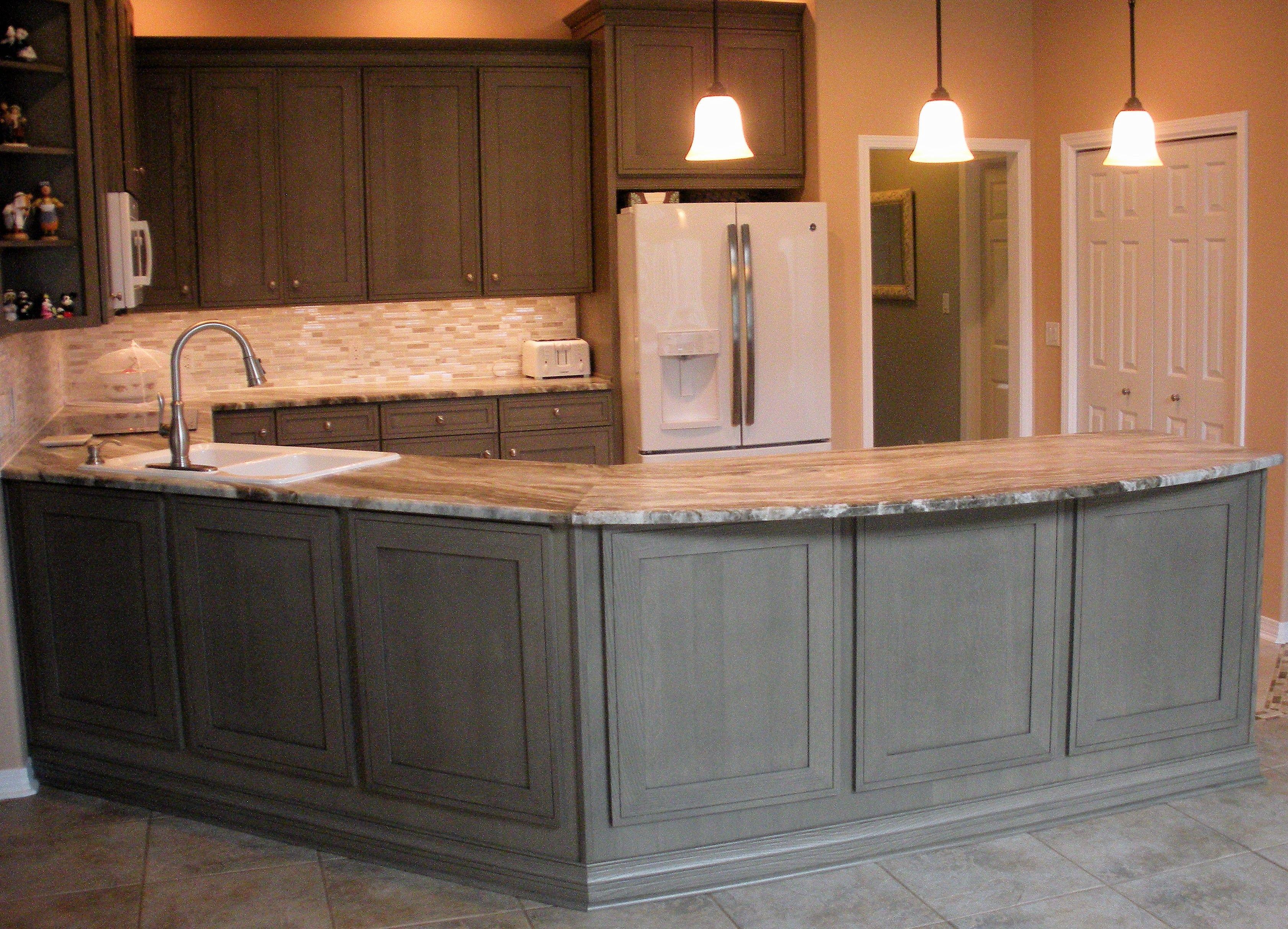Gray Quartersawn Oak Kitchen Real Kitchen Kitchen Cabinet