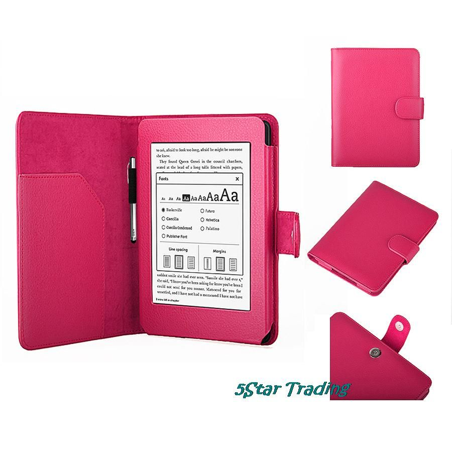 Tablet Case Protective Cover Luxury Smart Auto Wake /Sleep Leather Shell W/ Screen Protector Stylus For Amazon Kindle Paperwhite