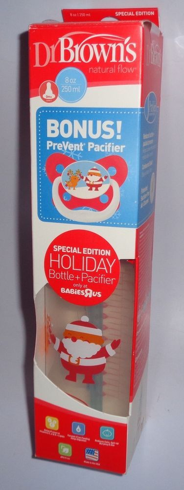 Dr. Brown 's Special Edition Holiday Christmas Bottle with ...