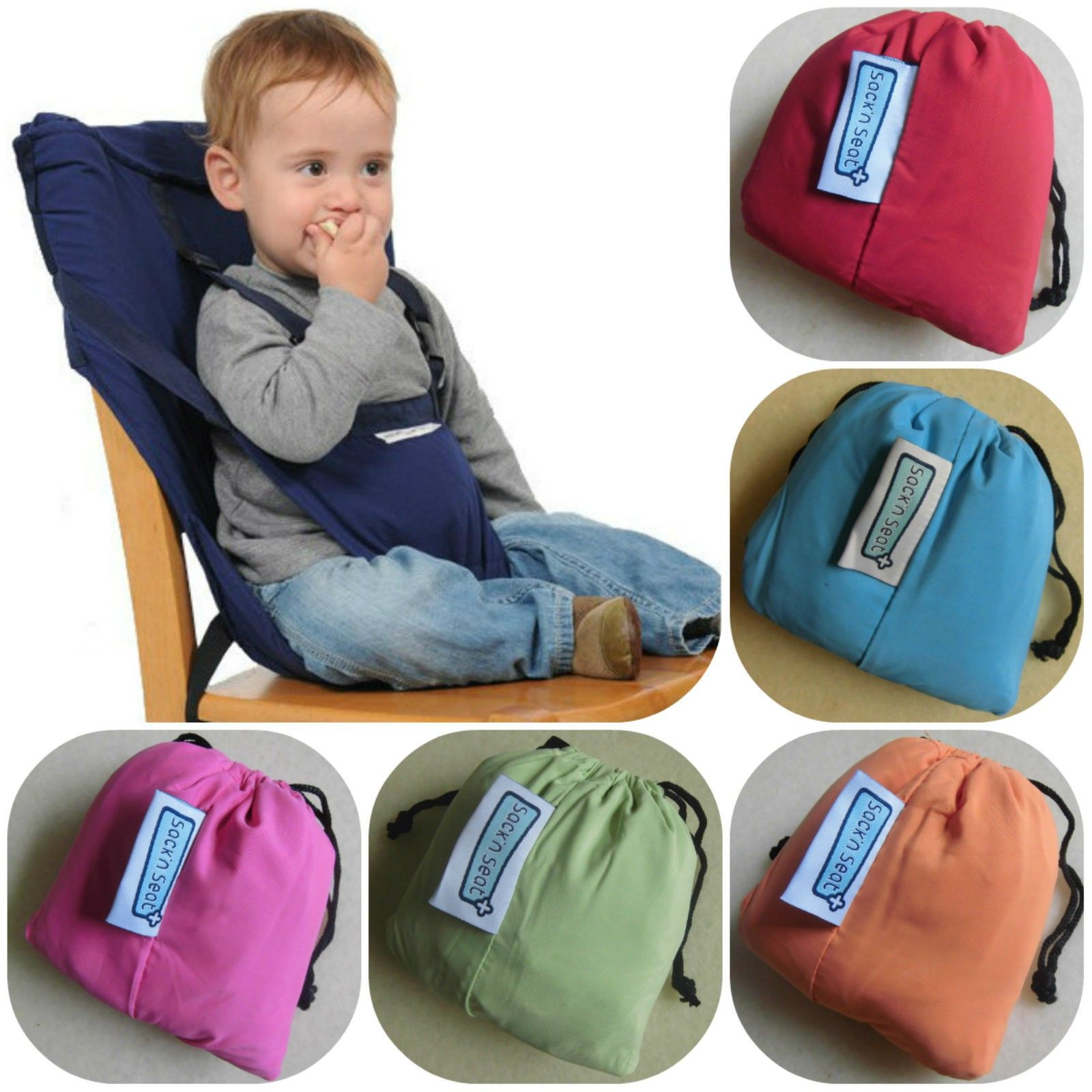 Portable High Chair Baby Modern Lounge Chairs Sack N Seat Shoulder Strap Babies