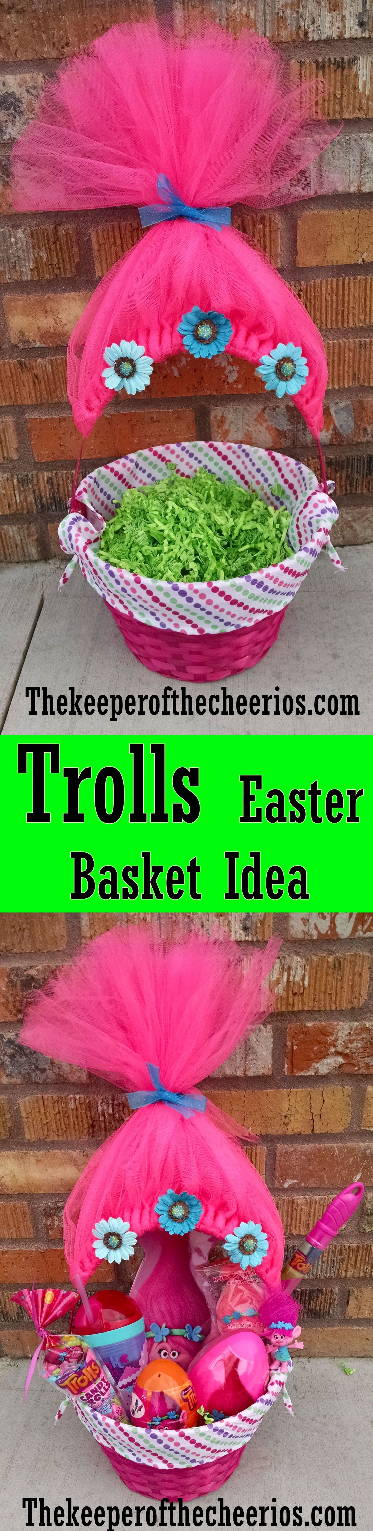 Outdoor easter decorations pinterest - Trolls Movie Easter Basket Idea