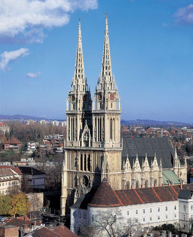 The Zagreb Cathedral On Kaptol Herman Bolle Zagreb Croatia Zagreb Croatia