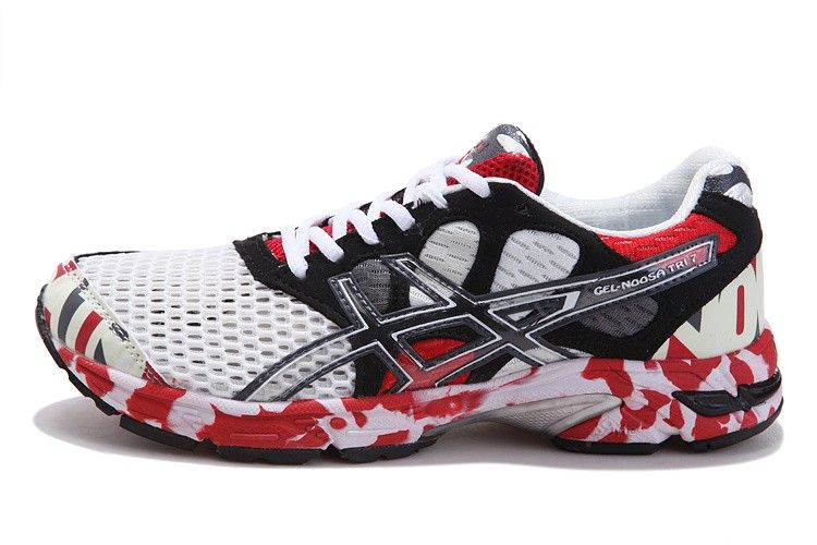best website f2732 86818 ... sale asics gel noosa tri 7 mens running shoe white black red only 69.90  ae342 3e326