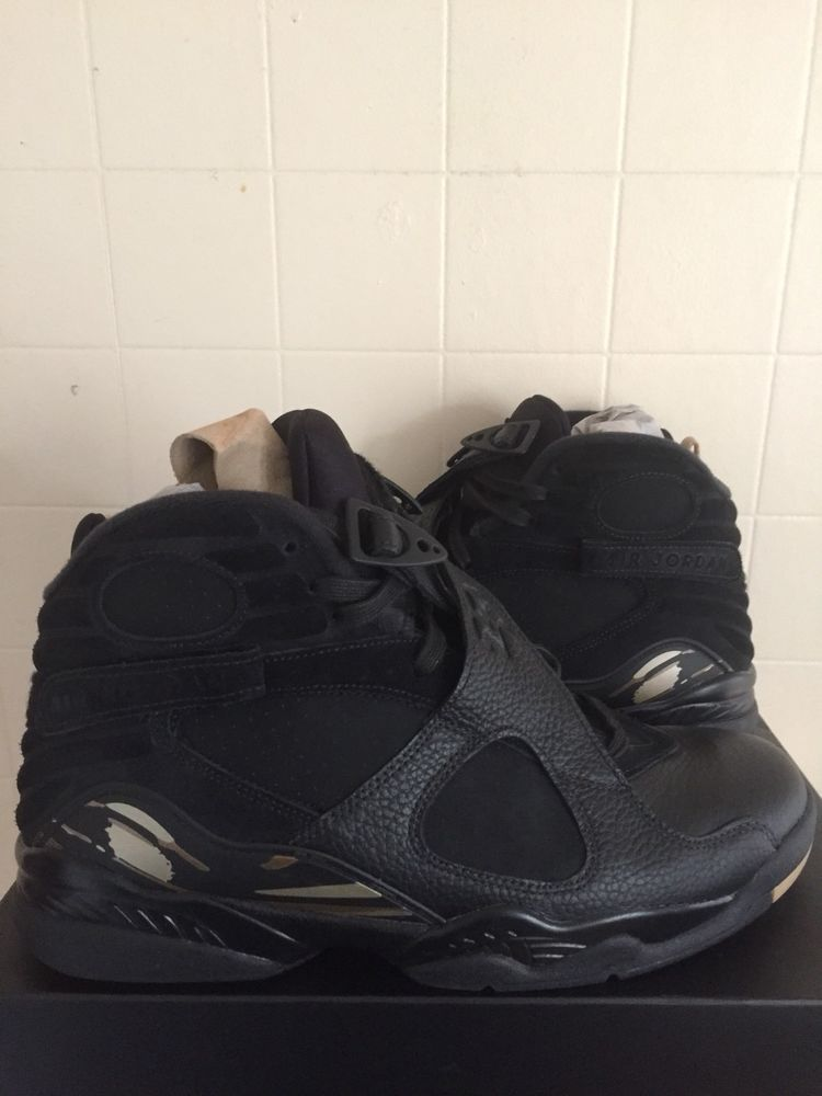 pretty nice 3e249 cd72e Nike Air Jordan 8 Retro Ovo Uk Size 9.5 US 10.5 blackgold