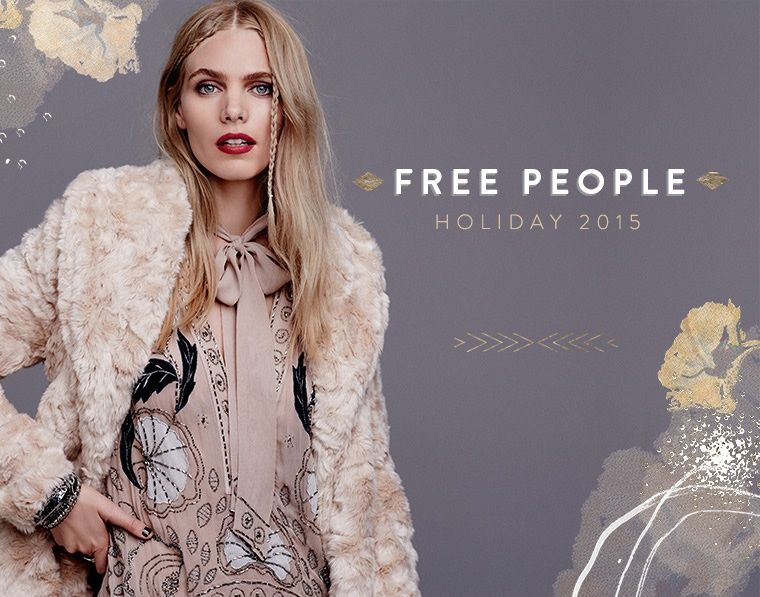 Free People Swingy Faux Fur Jacket, Free People 'Pennies Stuck on You' Beaded Tunic Dress