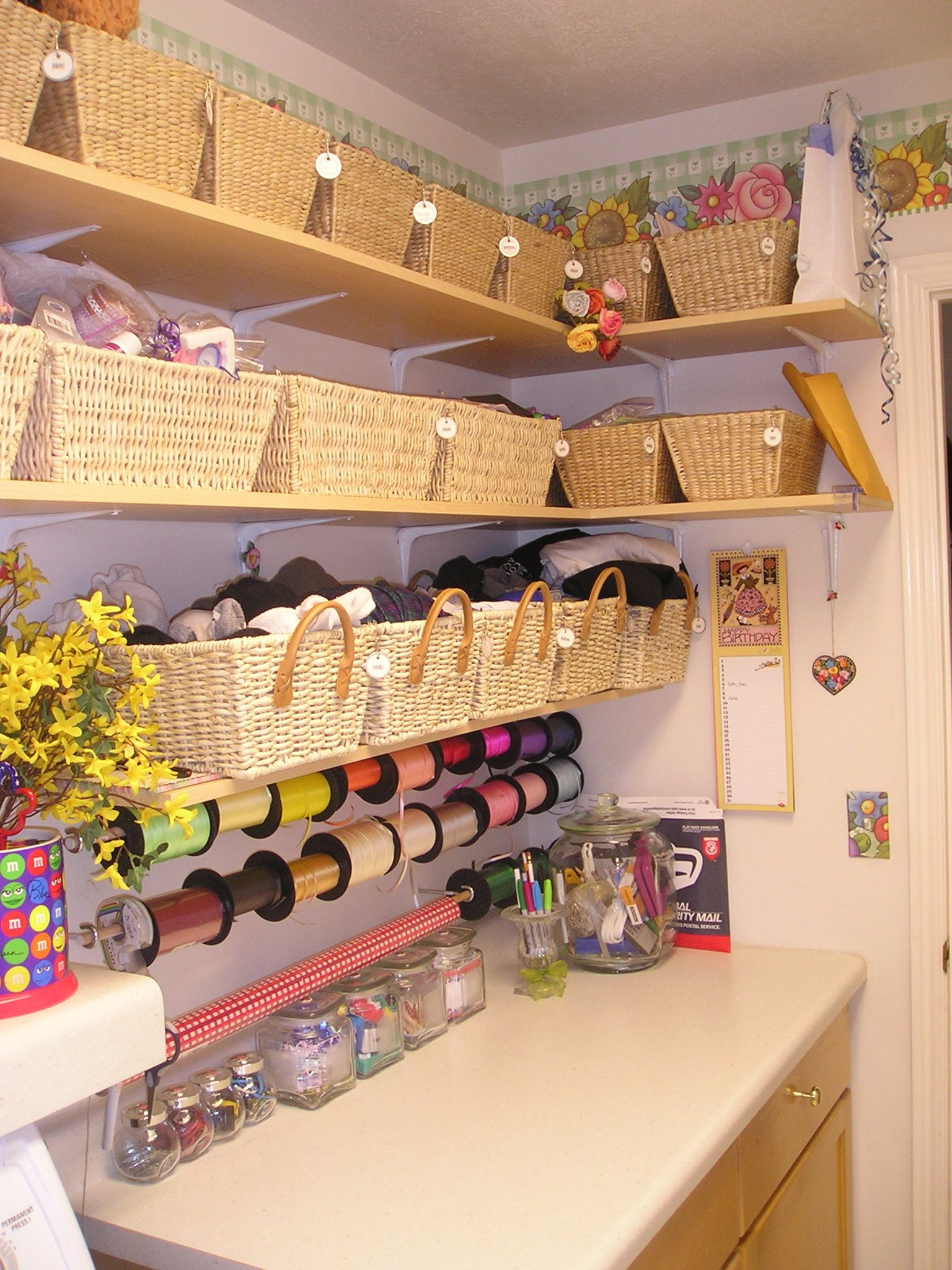 """This is what I want to create in my """"craft room"""" someday....someday....someday...."""