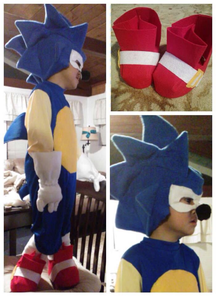 Pin By Angie On My Project Runway Sonic Costume Halloween Costumes For Work Sonic The Hedgehog Costume