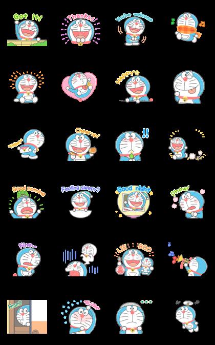Doraemon's Animated Crayon Stickers LINE Sticker - Download