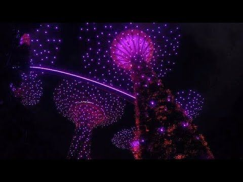 TRAVEL VLOG GARDENS BY THE BAY LIGHT SHOW SINGAPORE 2018 Part