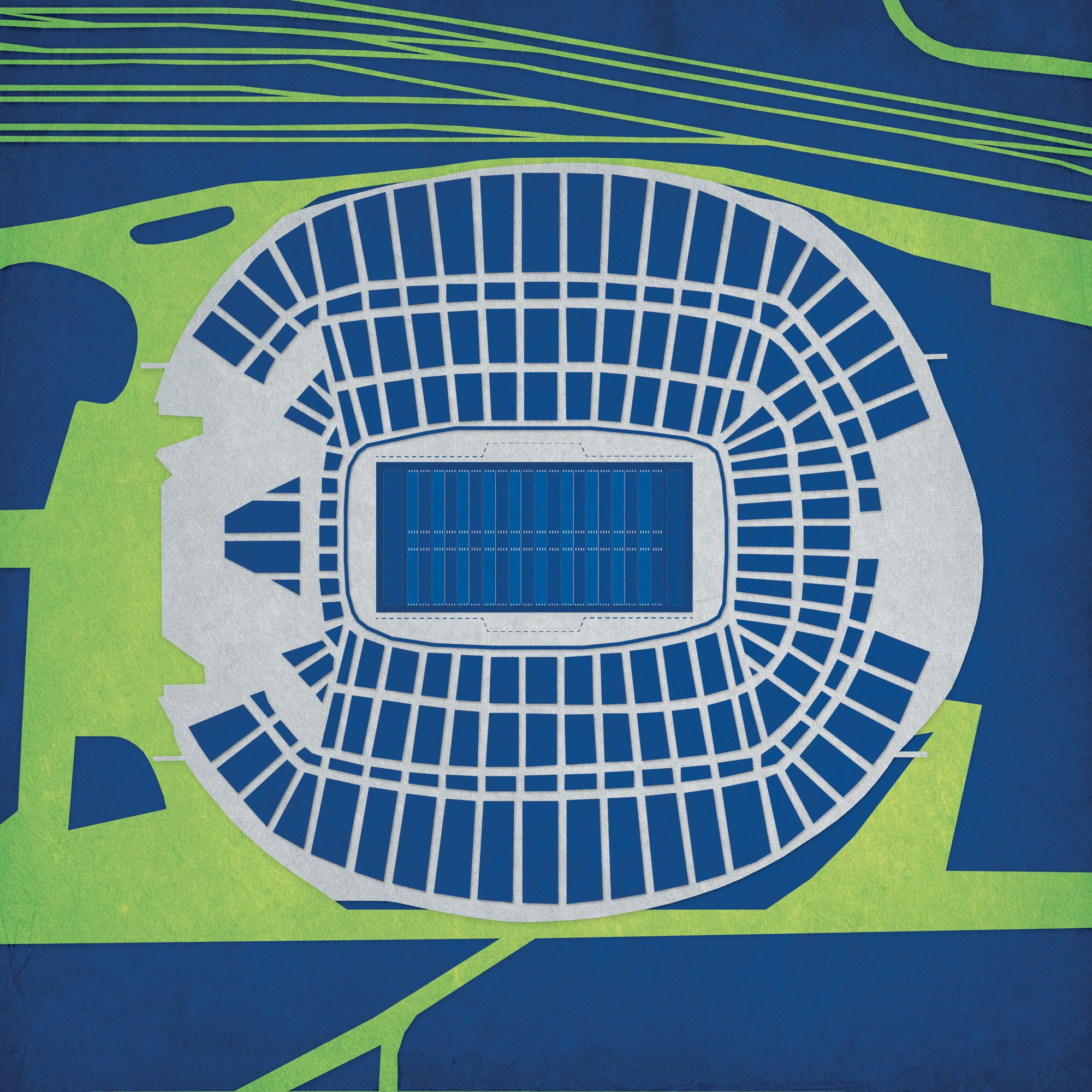 CenturyLink Field - City Prints Map Art | Fashion Clothing and Ideas on