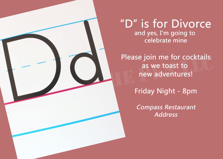 Divorce party invitation idea #trashthedress #celebratedivorce ...