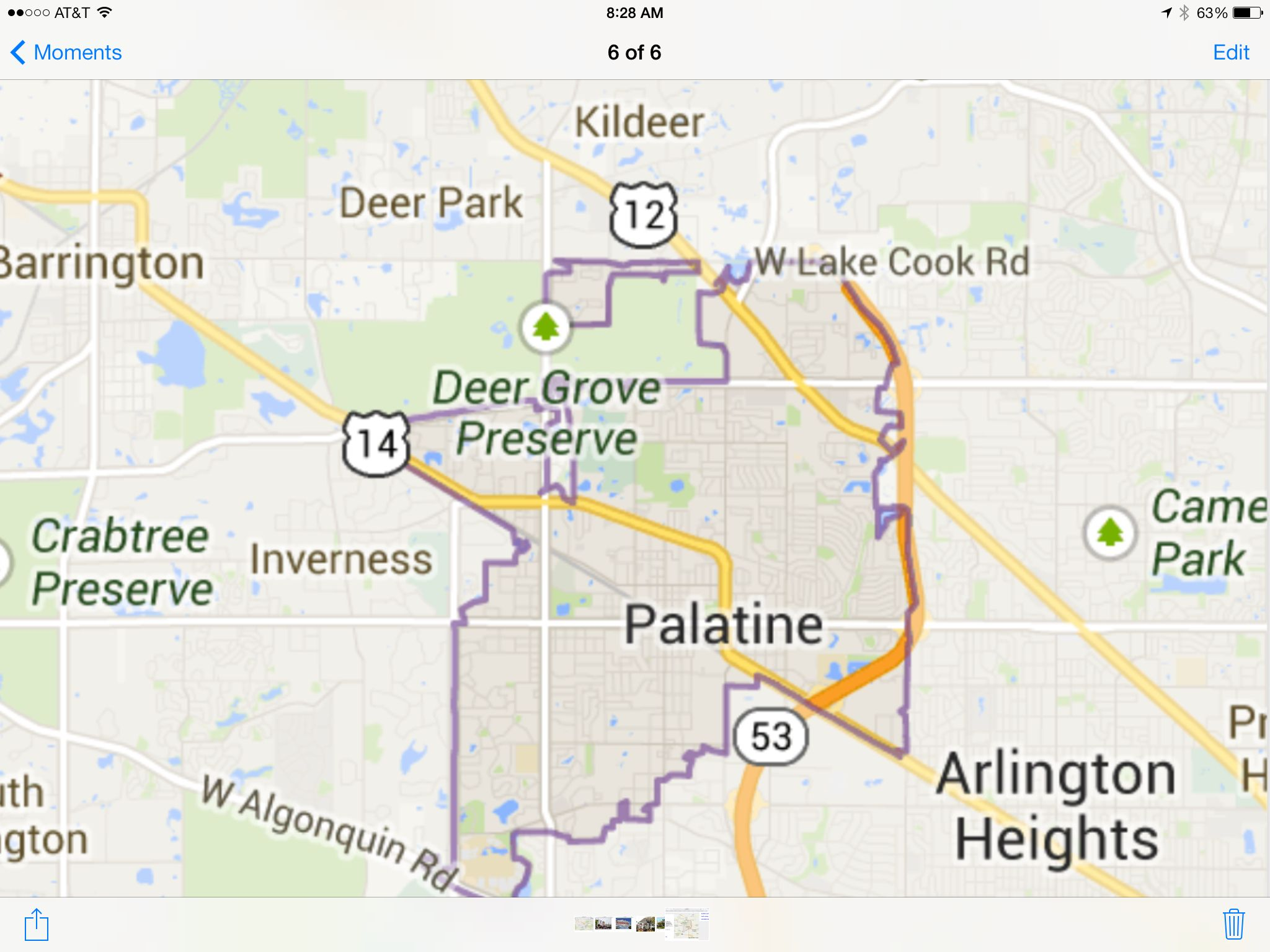 Palatine Illinois Map.Snapshot Of A Google Map Pic Of Downtown Palatine Il Favorite