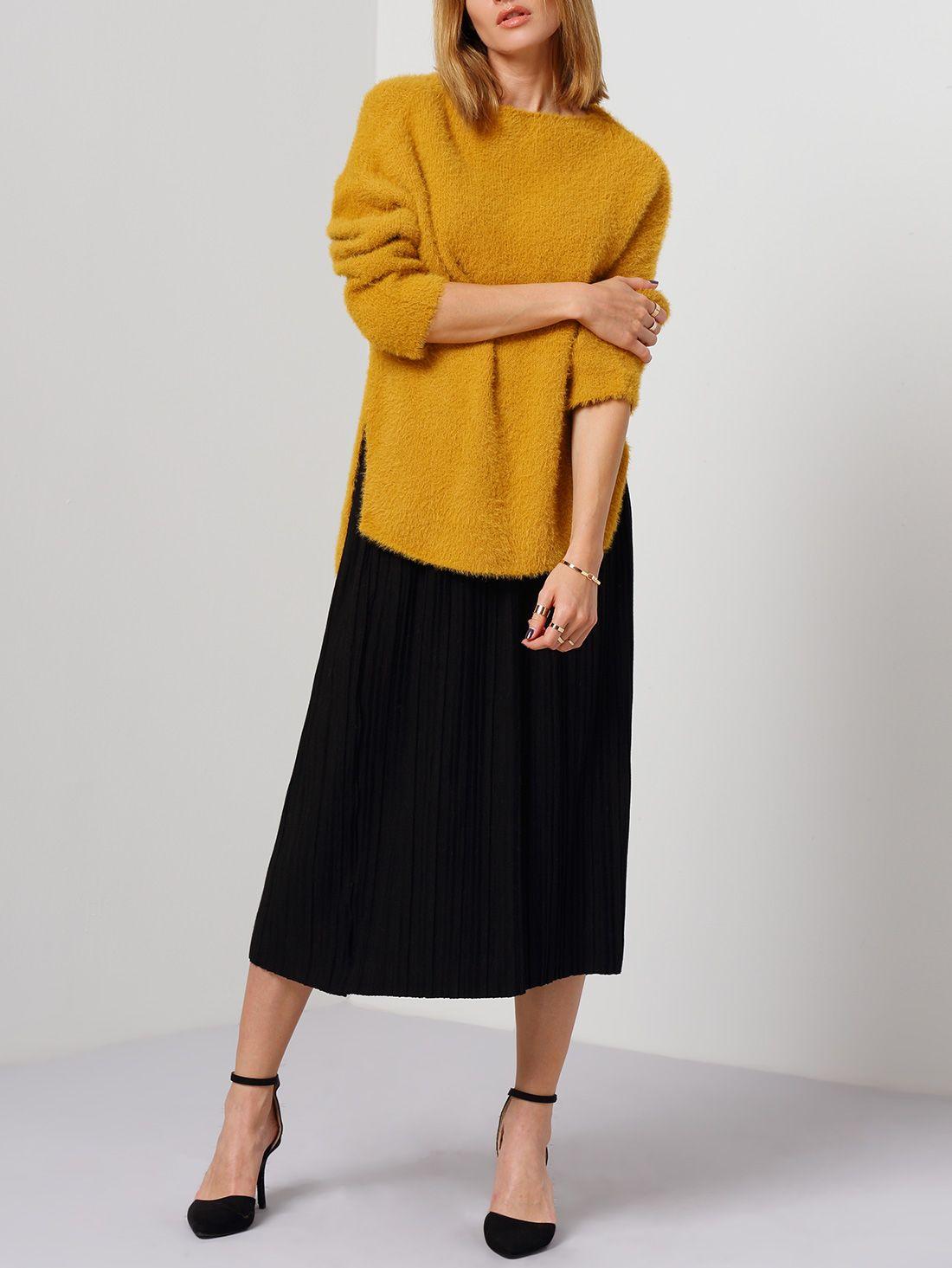 Black elastic waist pleated skirt elastic waist black and shopping