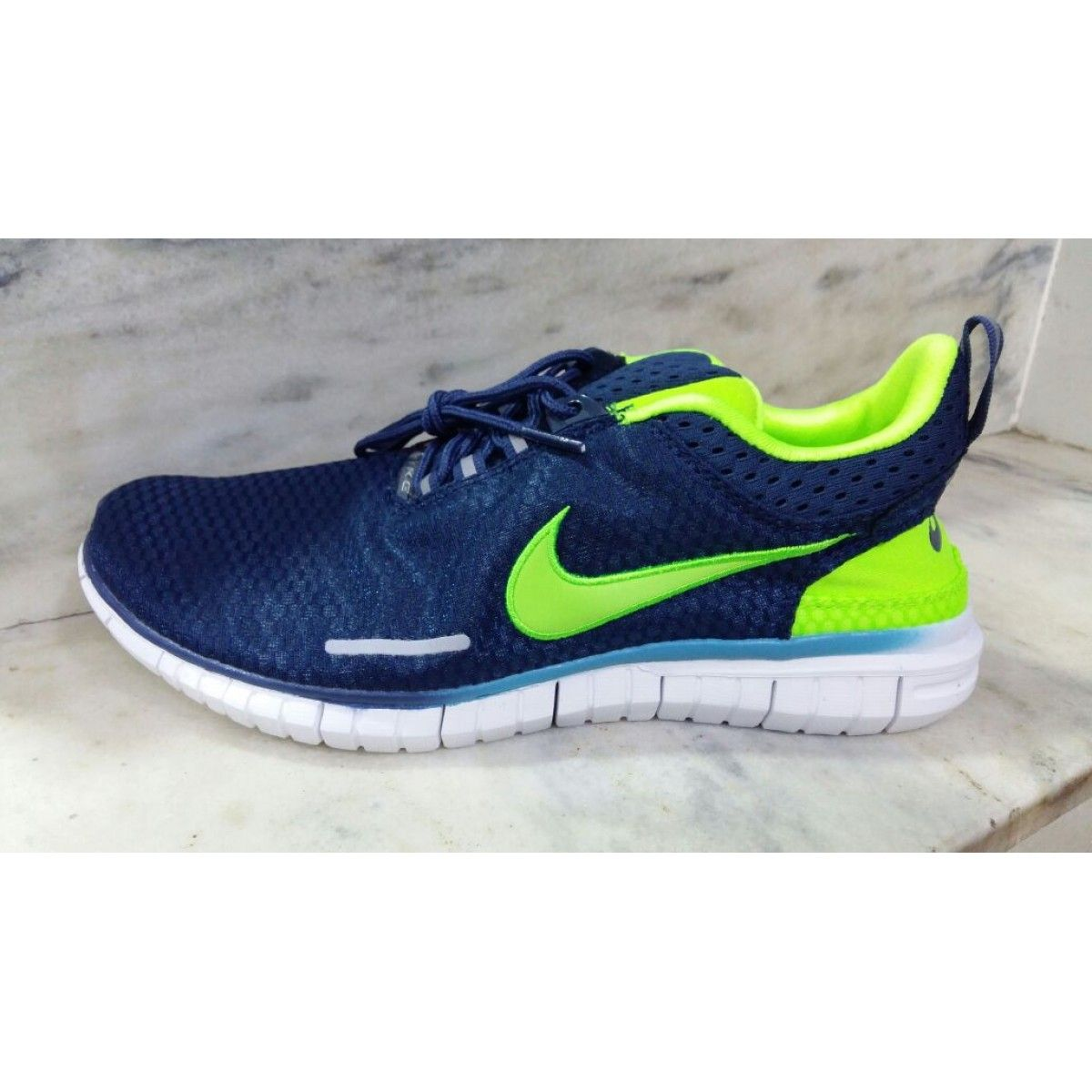 Nike Free OG Breathe Navy Blue Green Men's Running Sports, Nike