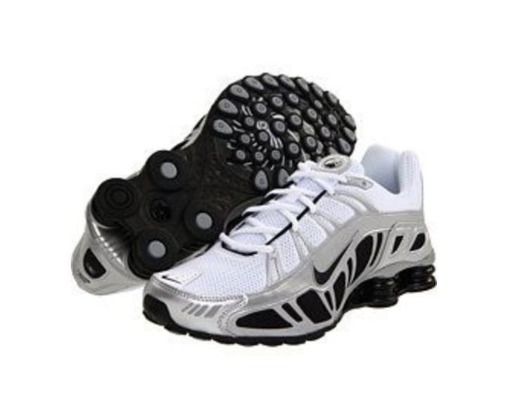 ... Men's Nike Shox Turbo 3.2 SL Size 10.5 Running Shoes White/Black/Silver  455541