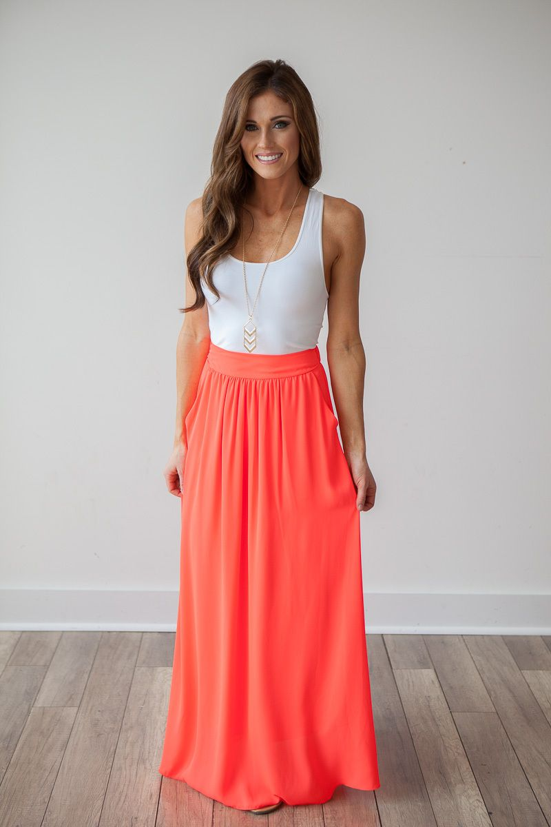45 Trendy Maxi Skirt Outfits Ideas for Girls: 2016 | Pantone color ...