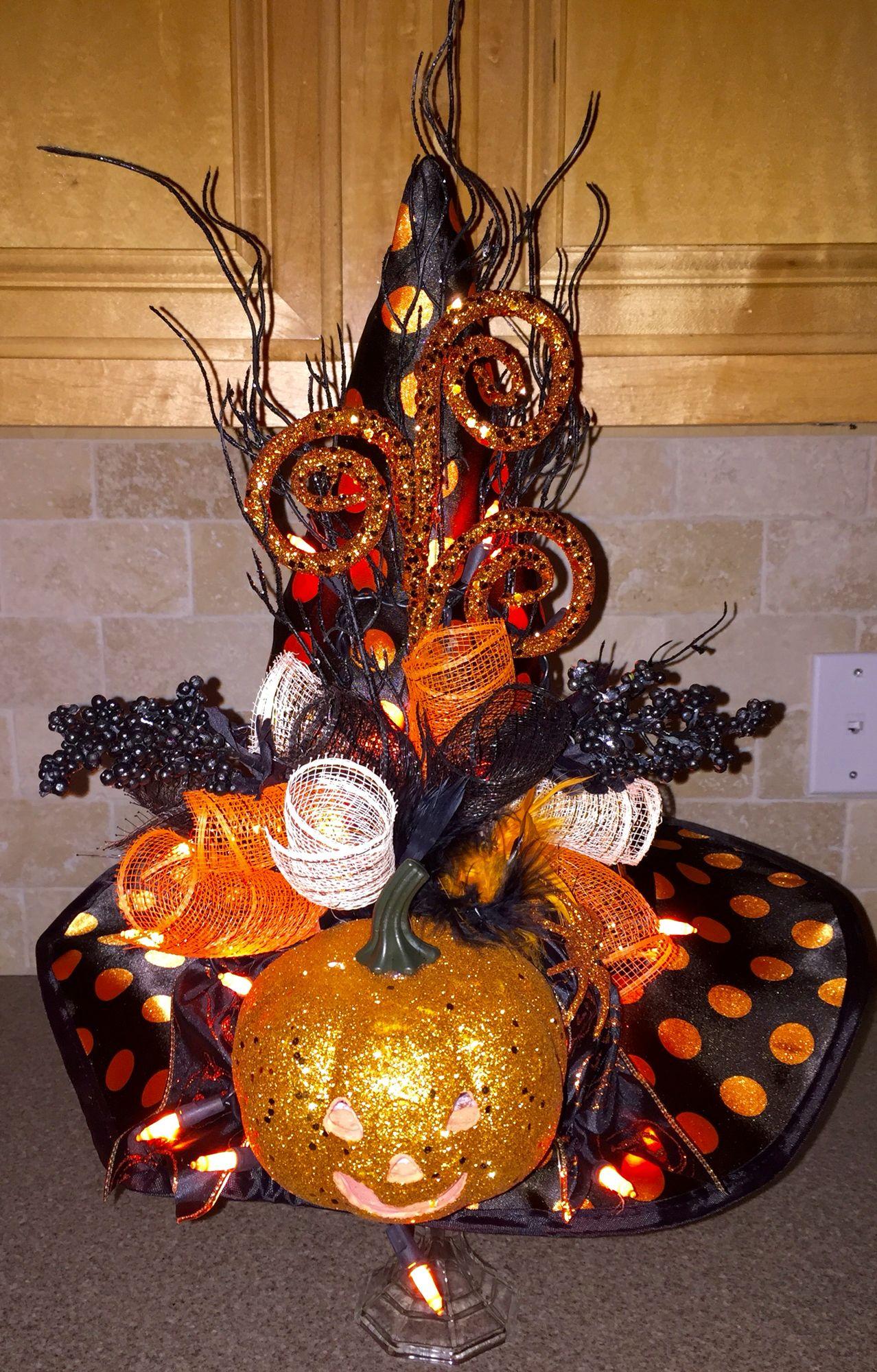Diy halloween witches hat decorations diy halloween