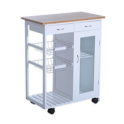1PLUS Küchenwagen Servierwagen in versch. Designs (Carlotta - weiß ...