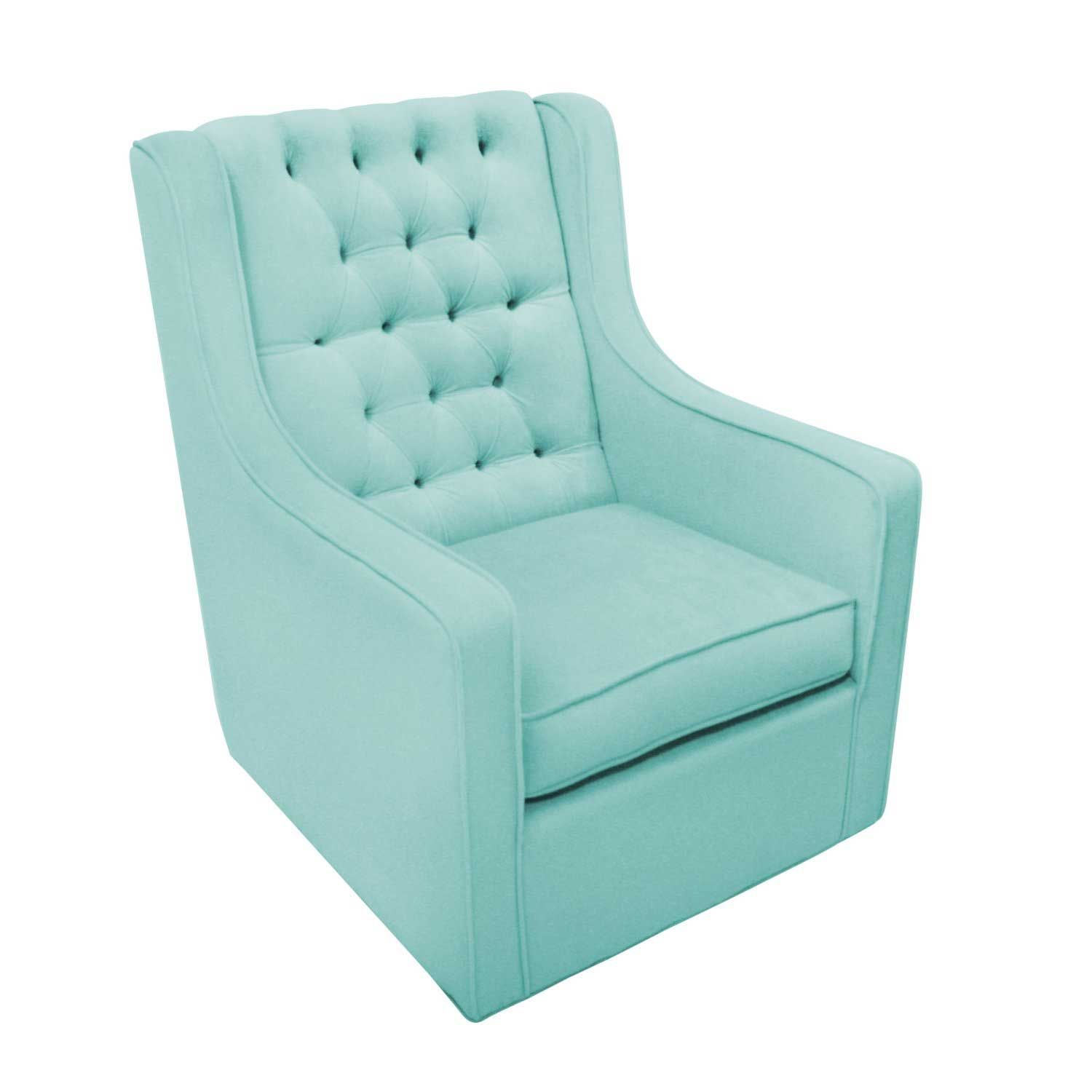 blue nursery chair barrel dining chairs 3 discount rocking with durable wood and consumer reviews 27 inch aqua absolutely adore this