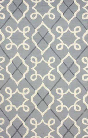 nuLOOM Grey 5' x 8' Malta area rug|Contemporary Rugs. home decor, print, design, decor, style, modern, home, house, contemporary, interior design, grey, wool.
