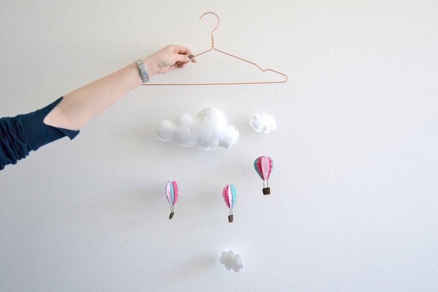 Heißluftballon mobile diy academy diy home deko