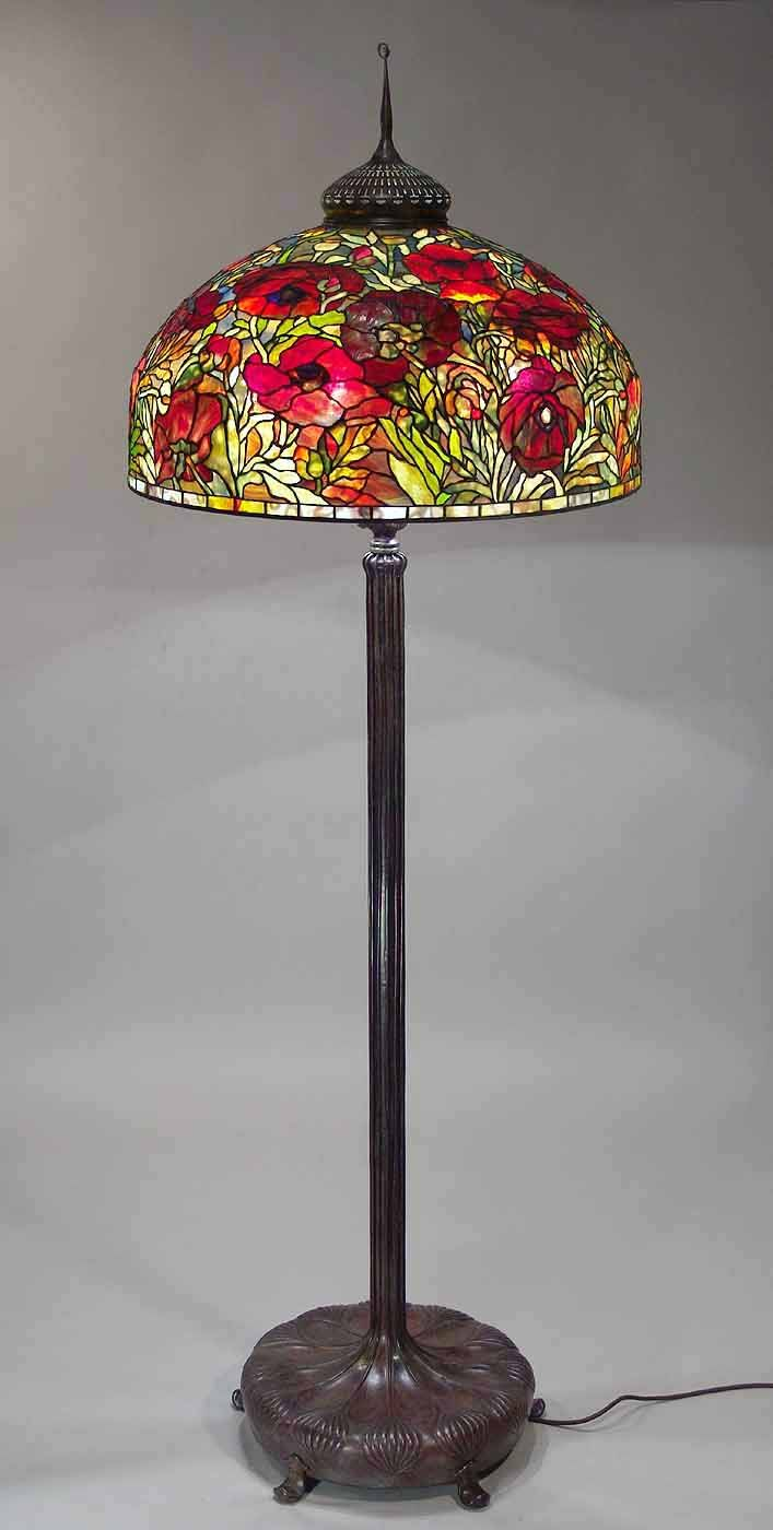 The 26 oriental poppy floor lamp design of tiffany studios ny the 26 oriental poppy floor lamp design of tiffany studios ny eredeti stlus aloadofball Gallery